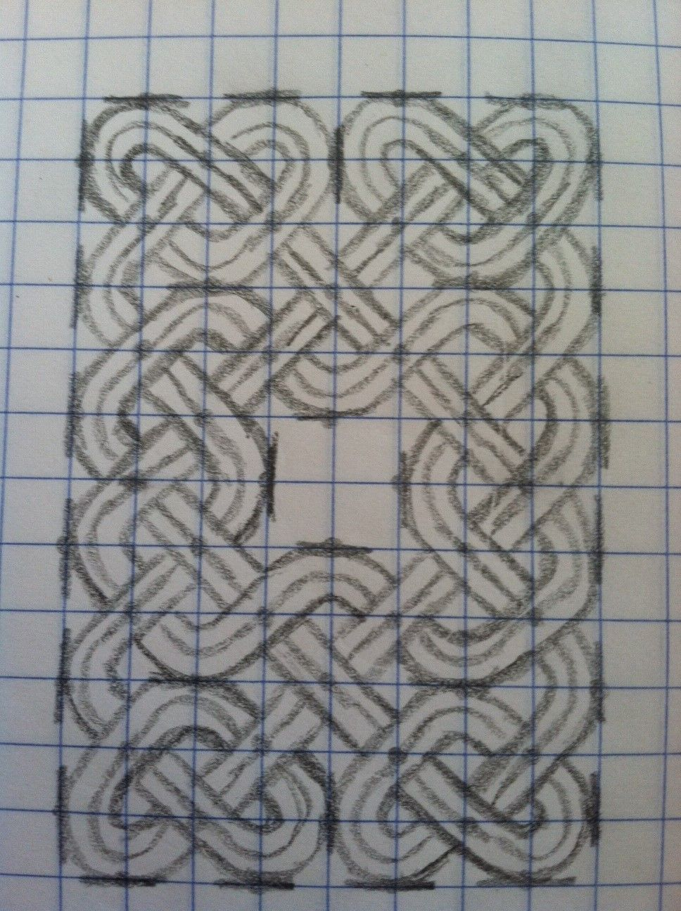 how to draw a celtic knot on graph paper