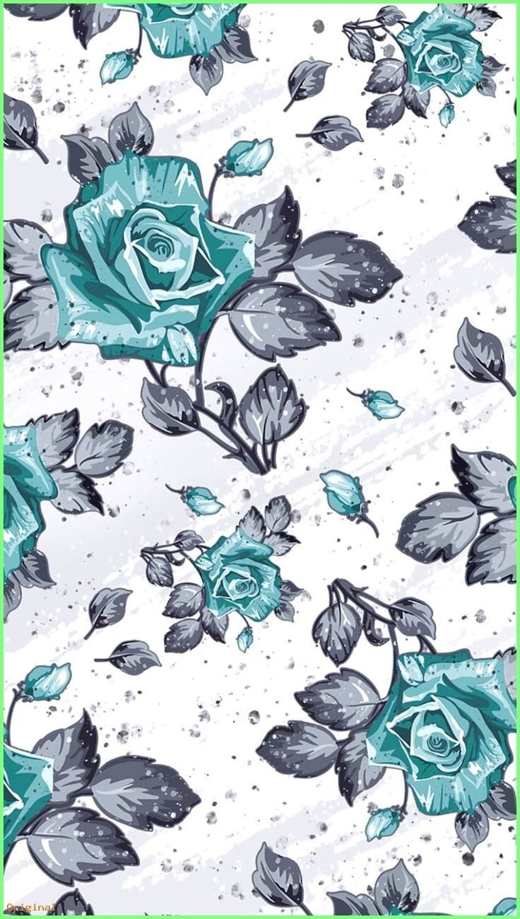 Flowers&leaves background💖