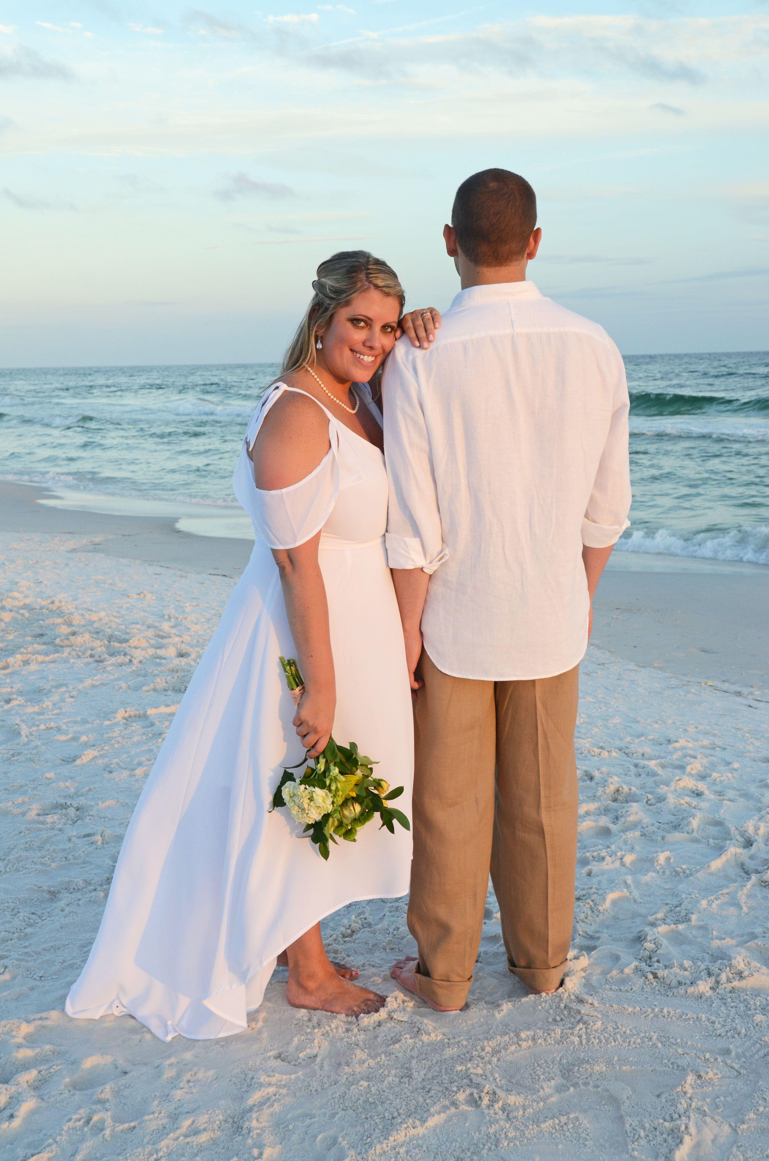 Wedding renewal dresses for beach  Dune Allen Beach Florida destination beach wedding  Beach Brides