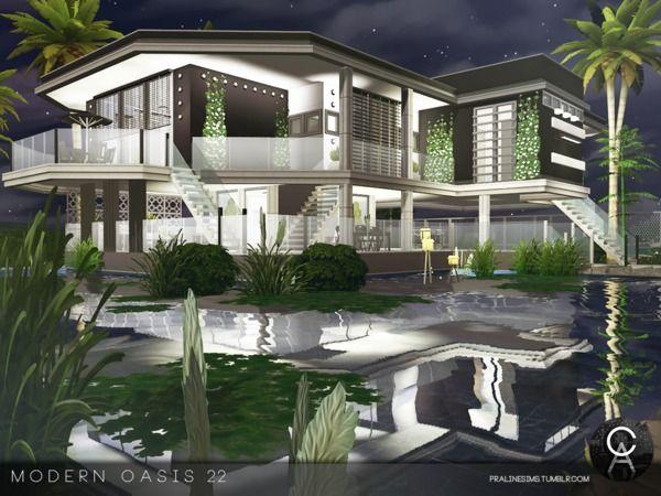Pralinesims Modern Oasis 22 Dream House Ideas Sims 4 Sims