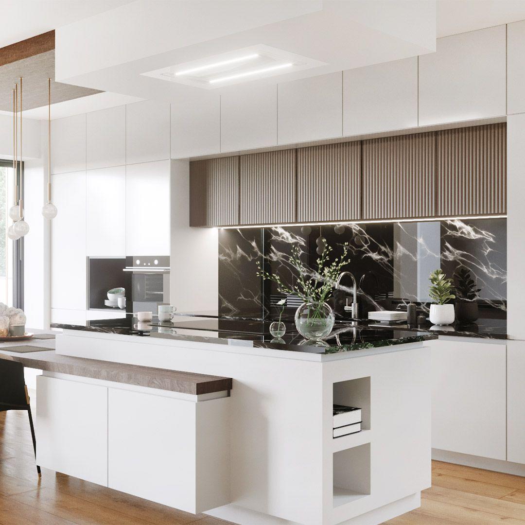 Okap Sufitowy Grand Super Slim White Nortberg Home Decor Home Decor
