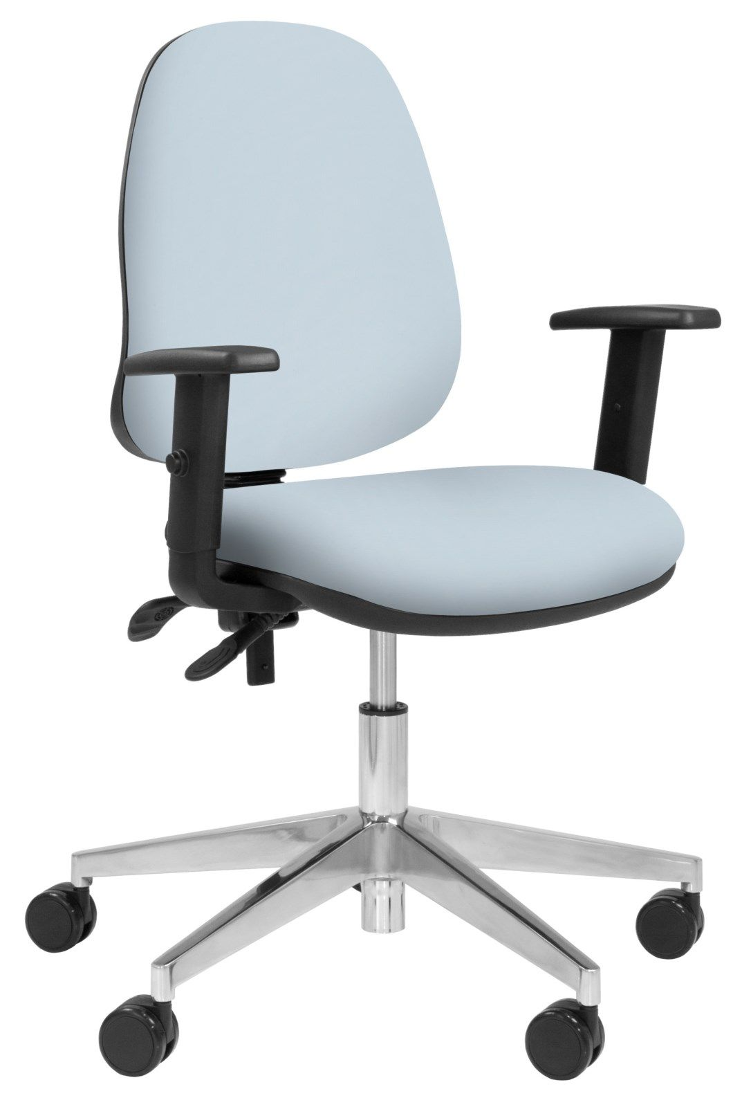 Team Plus Operator Chair Polished Base With Arms From Elite