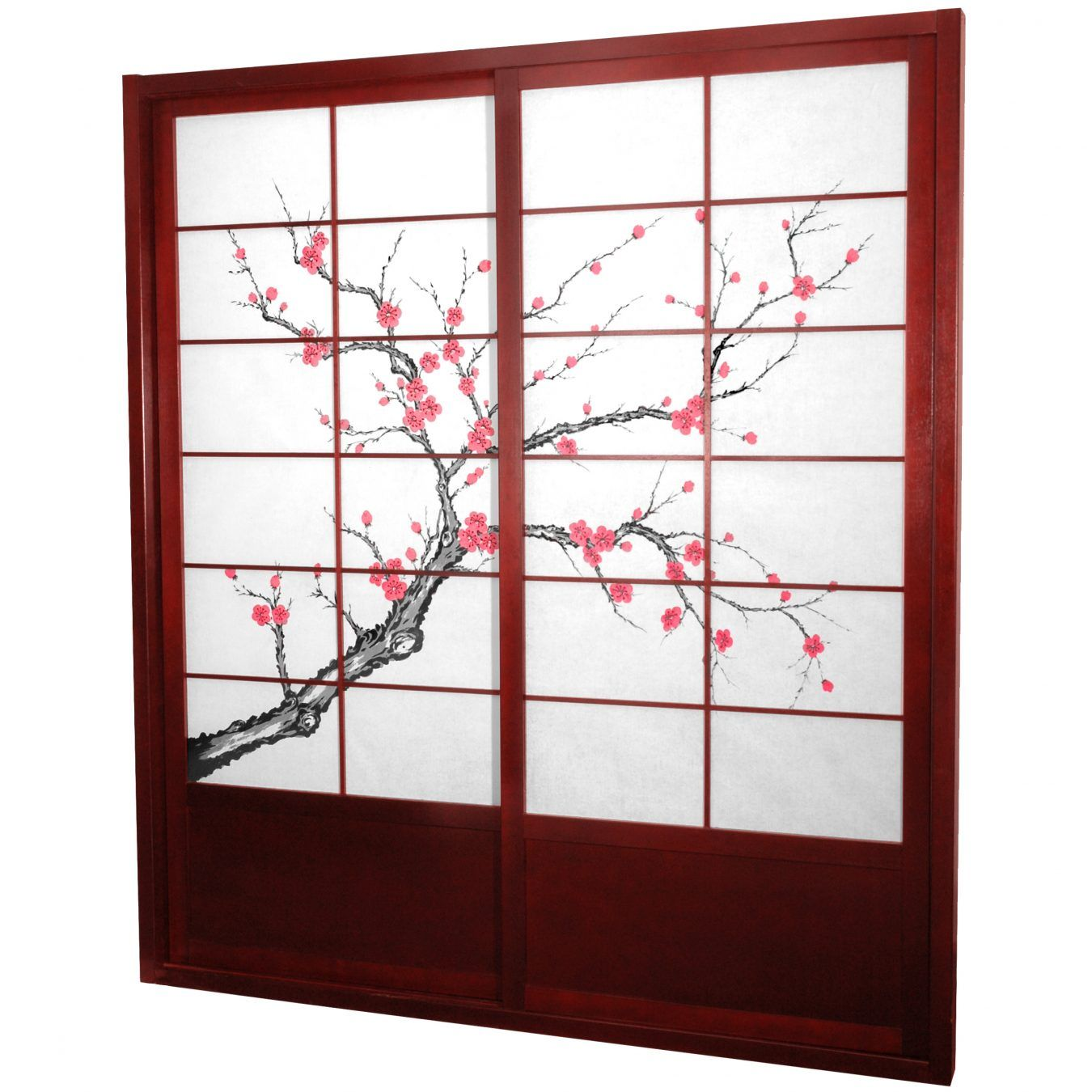 Tall Cherry Blossom Shoji Sliding Door Kit   Wide Selection Of Room  Dividers, Shoji Screens, Oriental And Asian Home Furnishings, Chinese Lamps  And ...