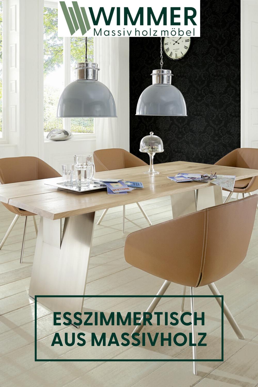 Esszimmertisch Aus Massivholz In 2020 Esszimmer Inspiration Esszimmertisch Esstisch Holz