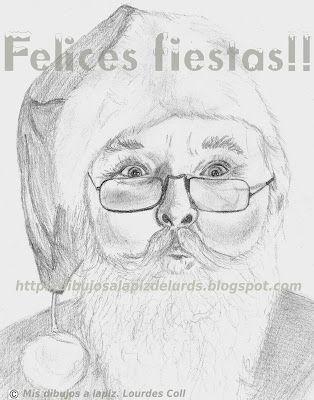 Feliz Navidad Papa Noel Dibujo Dibujos Hechos A Lapiz Dibujo De Navidad