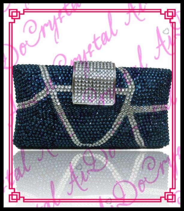 198.00$  Watch now - http://alig5e.worldwells.pw/go.php?t=32673297730 - Aidocrystal Women Lady deep blue Sparkling Crystal Clutch Bag Purse Handbag Evening Party Bag 198.00$