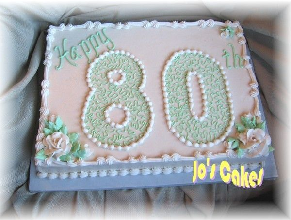 Search Results For 80th Birthday Sheet Cake Ideas Moms 80th