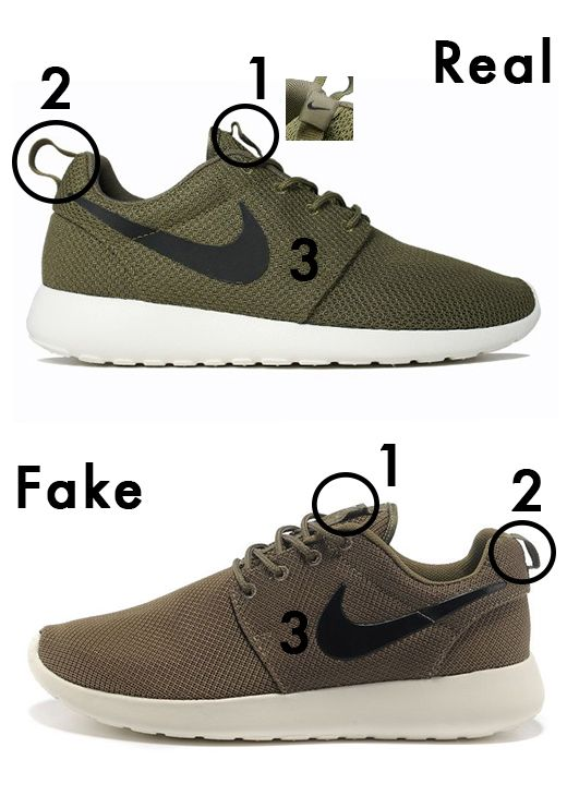 factory authentic 8d830 6ab5d Rosherun -- real vs fake