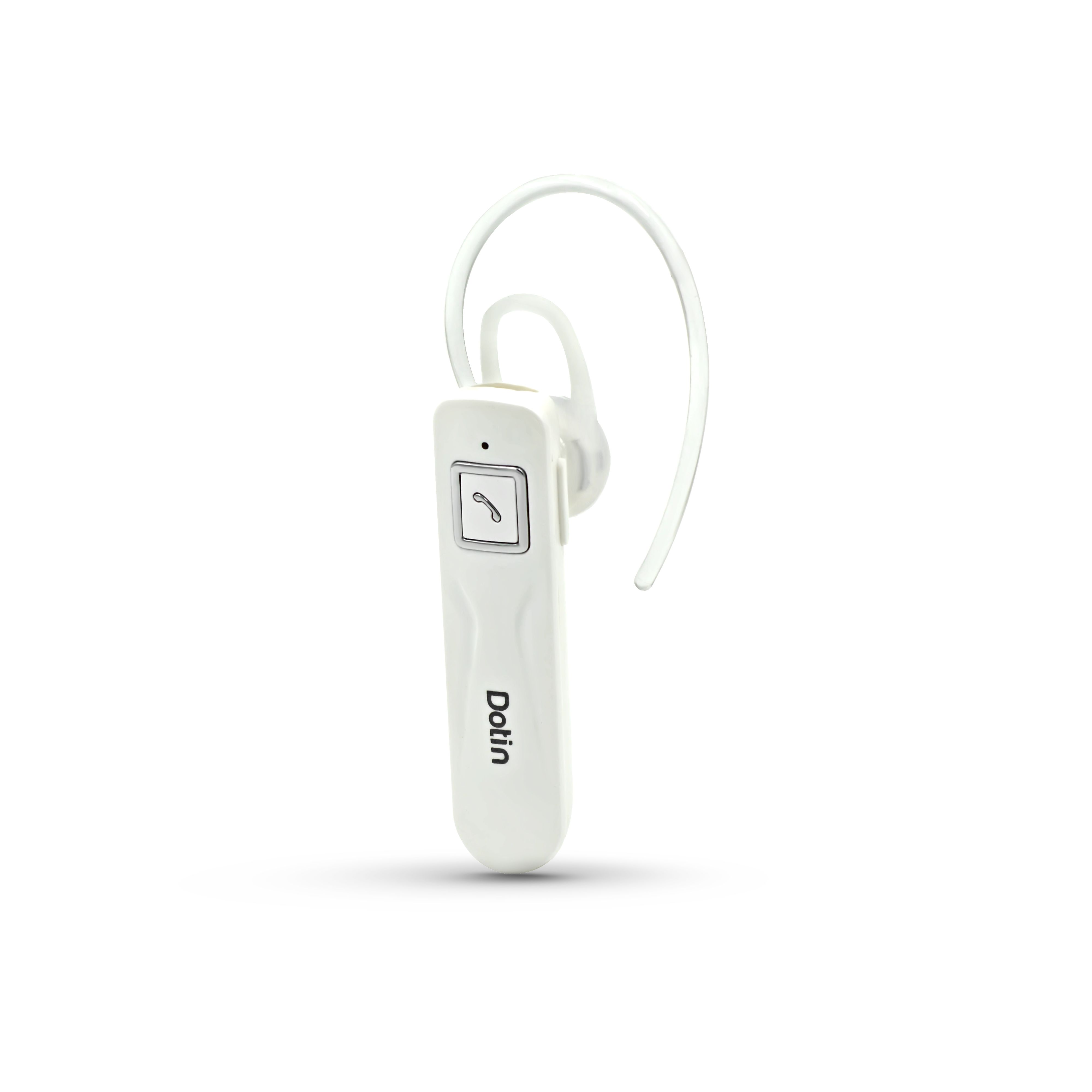 Dotin Dt A8 Multi Purpose Wireless Bluetooth Headset With Mic White Color Bluetooth Headset