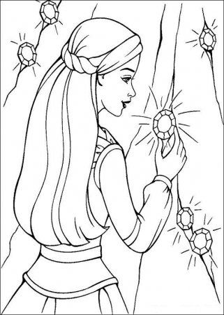 Раскраска Барби | Barbie coloring pages, Barbie coloring ...
