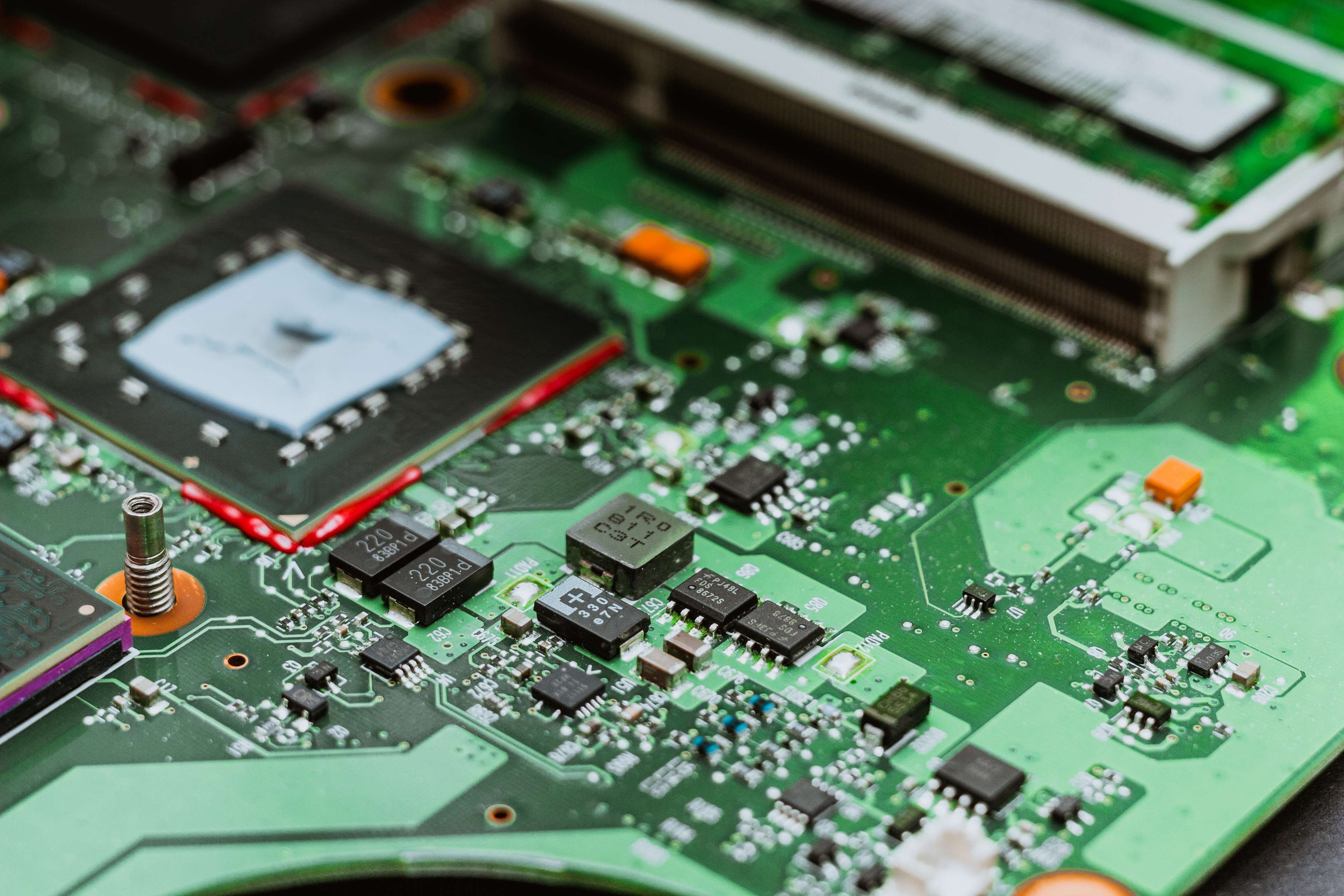 Circuit Board Close Computer Computer Chip Computer Part Cpu Data Desktop Pc Digitally Generated Computer Chip Computer Parts And Components Computer