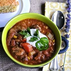 Vegetarian Chili - This will please your vegetarians and omnivores alike!