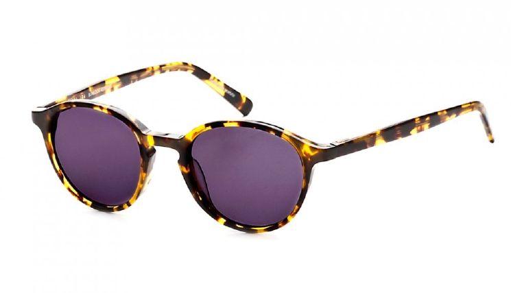 Unisex Round Polarized Sunglasses: J'adore - Tortoise - BonLook