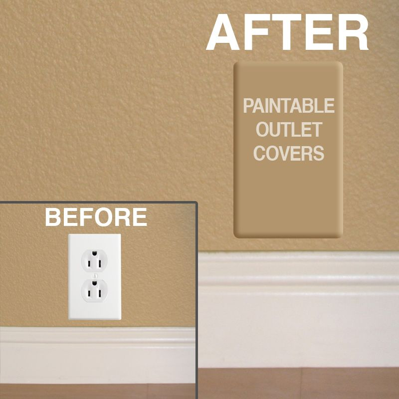 Paintable Switch Plate Outlet Covers | Outlets and Walls