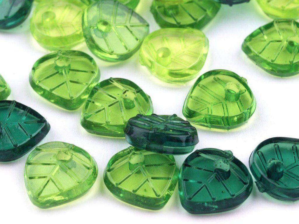 10g Green Leaves Plastic Beads 8x9 mm | Making bracelets, Plastic ...