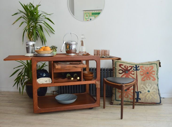 danish teak buffet cart me likey apartment therapy furniture rh pinterest com