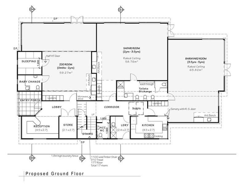 Daycare floor plans floorplan at the playroom daycare for Small daycare floor plans