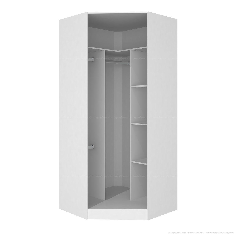 Mesa Aparador Para Quarto De Bebe ~ Guarda roupa Modulado sem Porta para Closet Canto Oblíquo