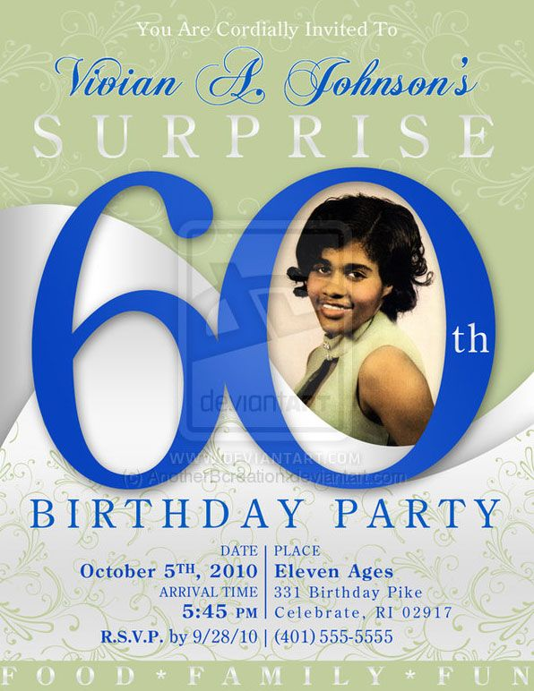 60 birthday party invites – 60 Year Old Birthday Invitations