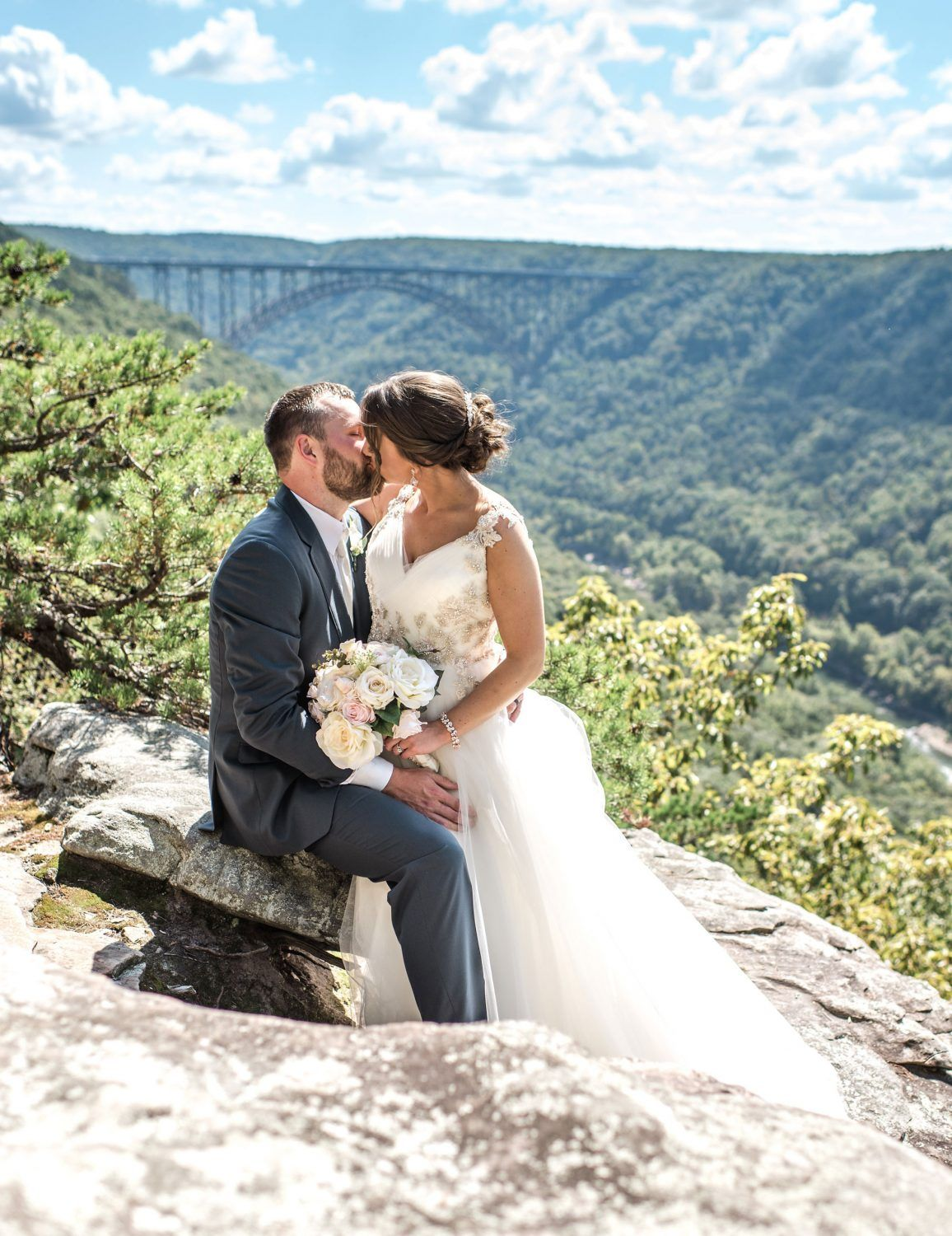 A Wedding Adventure on the New River Gorge | Mountain top ...