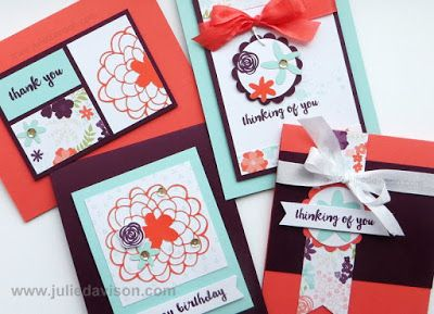 Hello Sunshine - February 2016 Hello Sunshine Alternative Paper Pumpkin Card Ideas #paperpumpkin #stampinup www.juliedavison.com