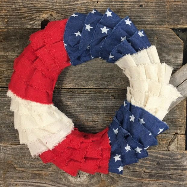 Photo of Stars and Stripes Fabric Wreath