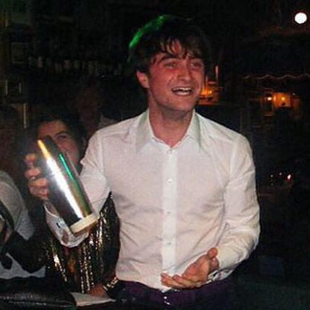 Harry Potter mixing us drinks last night.  He's a little too excited about playing bartender, no? #VODKA  #cocktails
