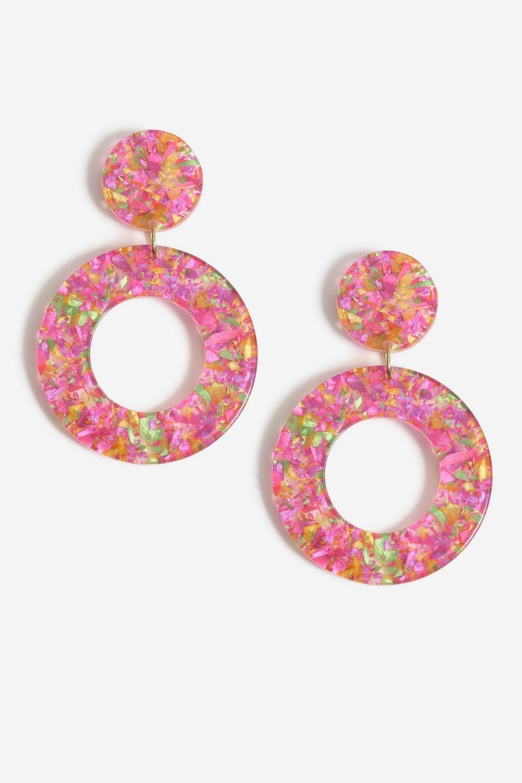 Resin Glitter Drop Earrings