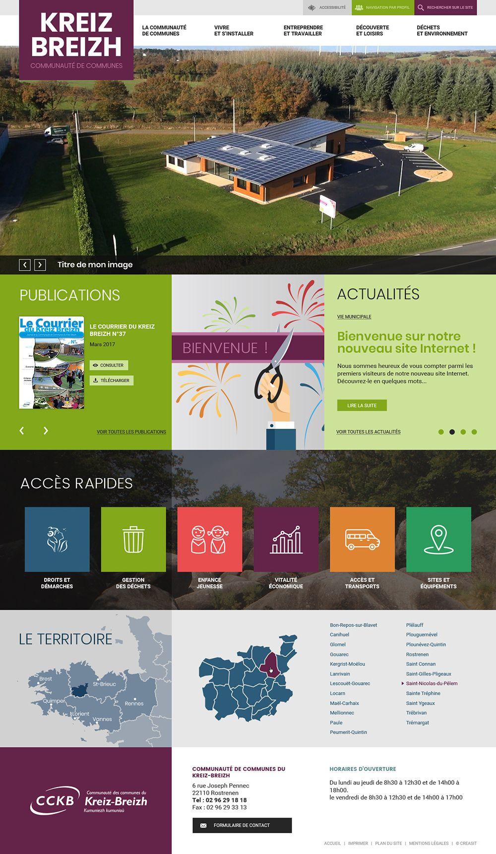 Createur De Site Internet création du site web de la communauté de communes du kreiz