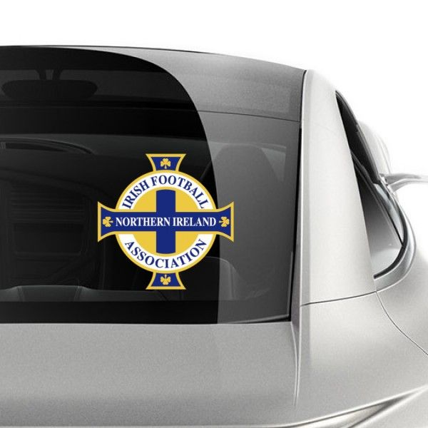 The northern ireland football team logo car sticker