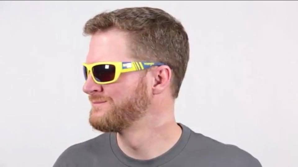 9c967251fc Dale Jr. Modelling the Limited Edition Spy Wrangler Dega sunglasses ...