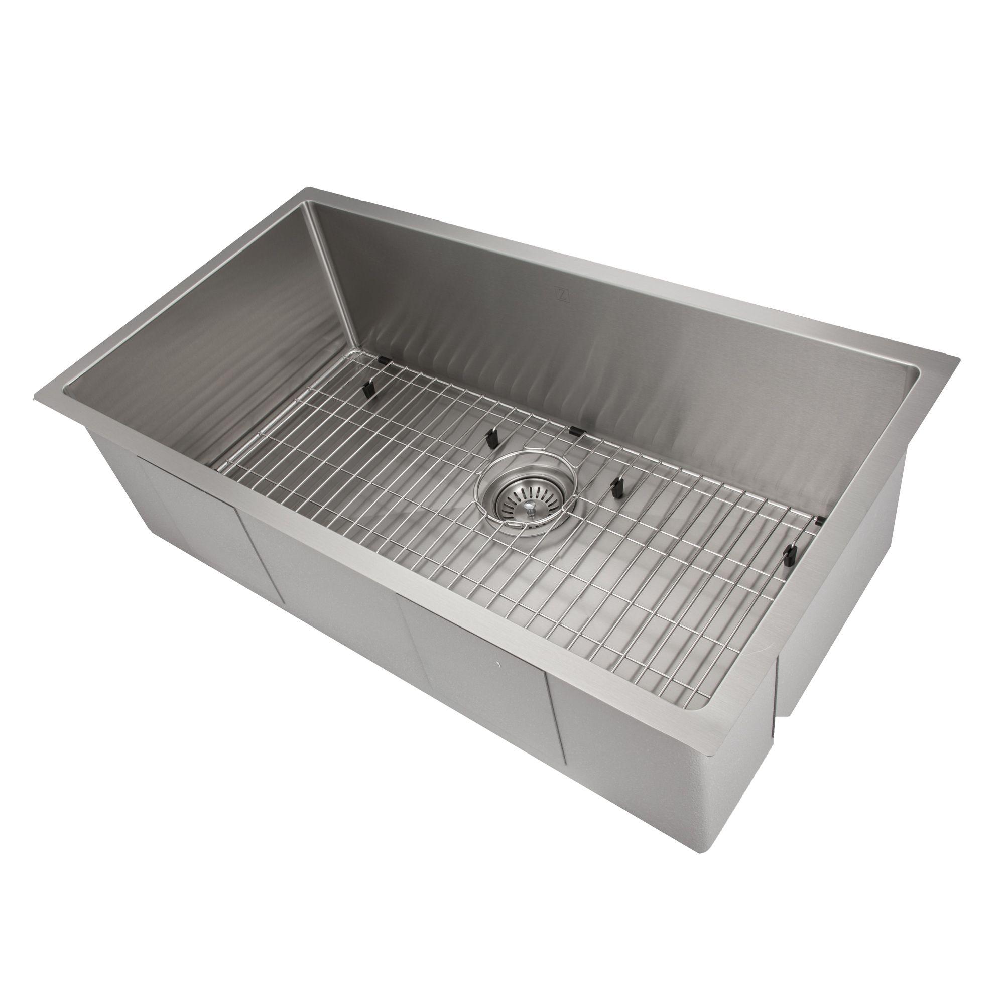 36 Inch Undermount Kitchen Sink.Zline Classic Series 36 Inch Undermount Single Bowl Sink In