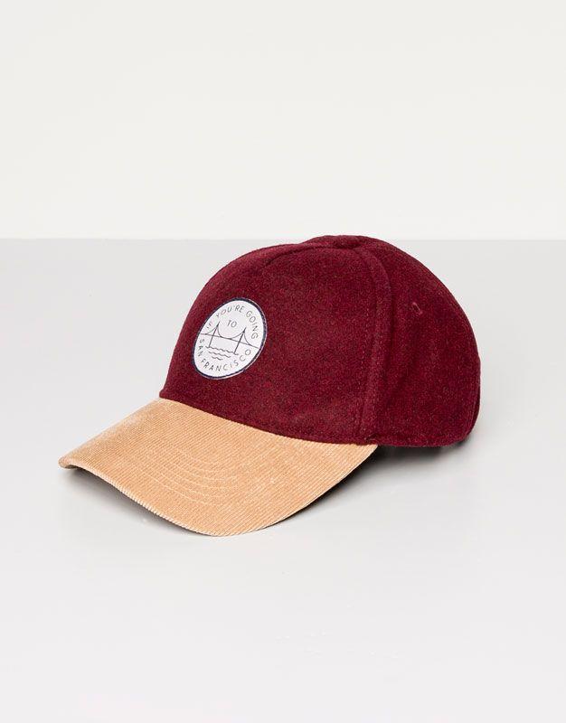 Pull Bear - mujer - gorros y sombreros - gorra beisbolera - granate -  05831307-V2016 e9c3addc662