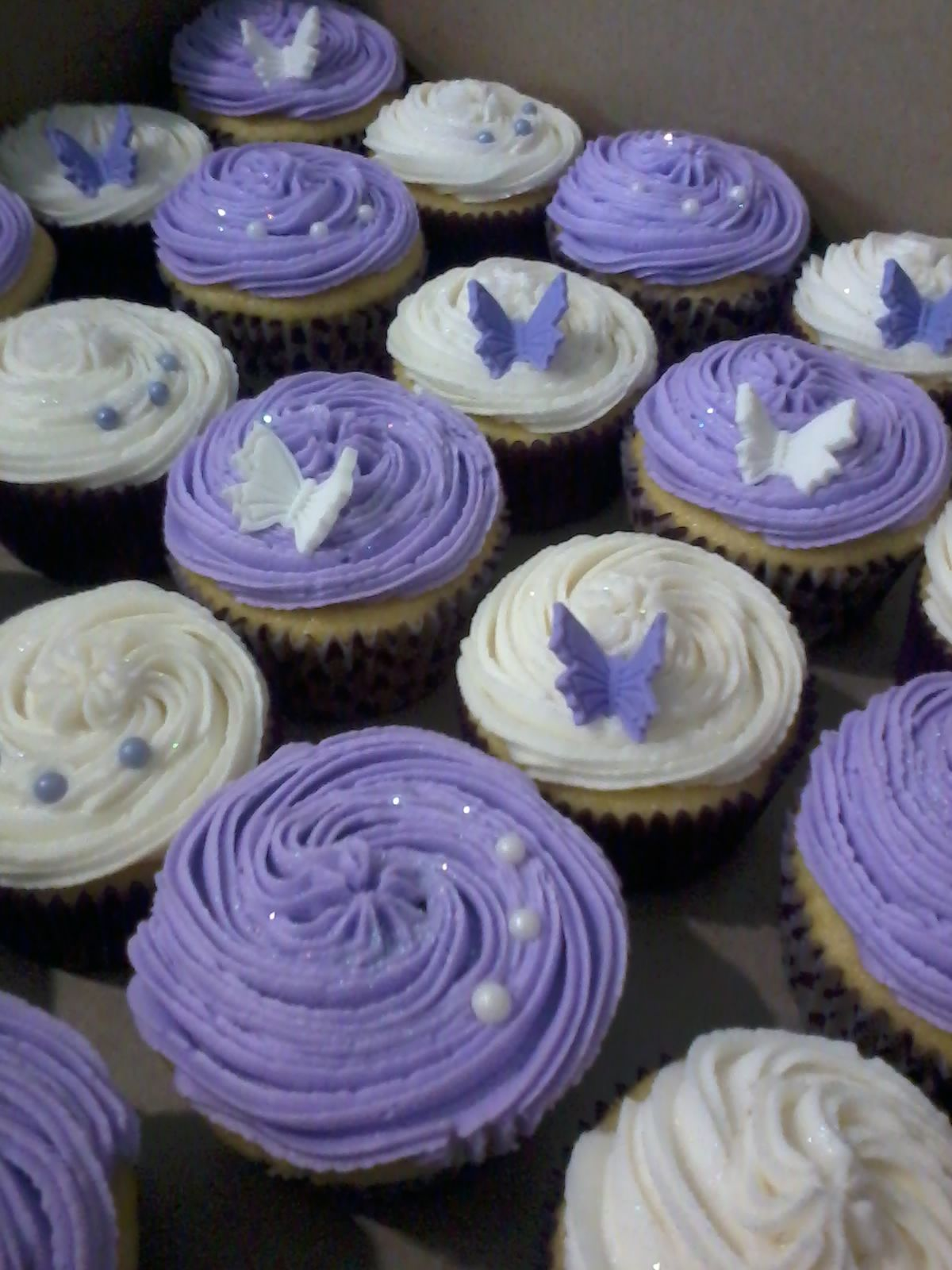 Purple cupcakes Cupcakes Pinterest