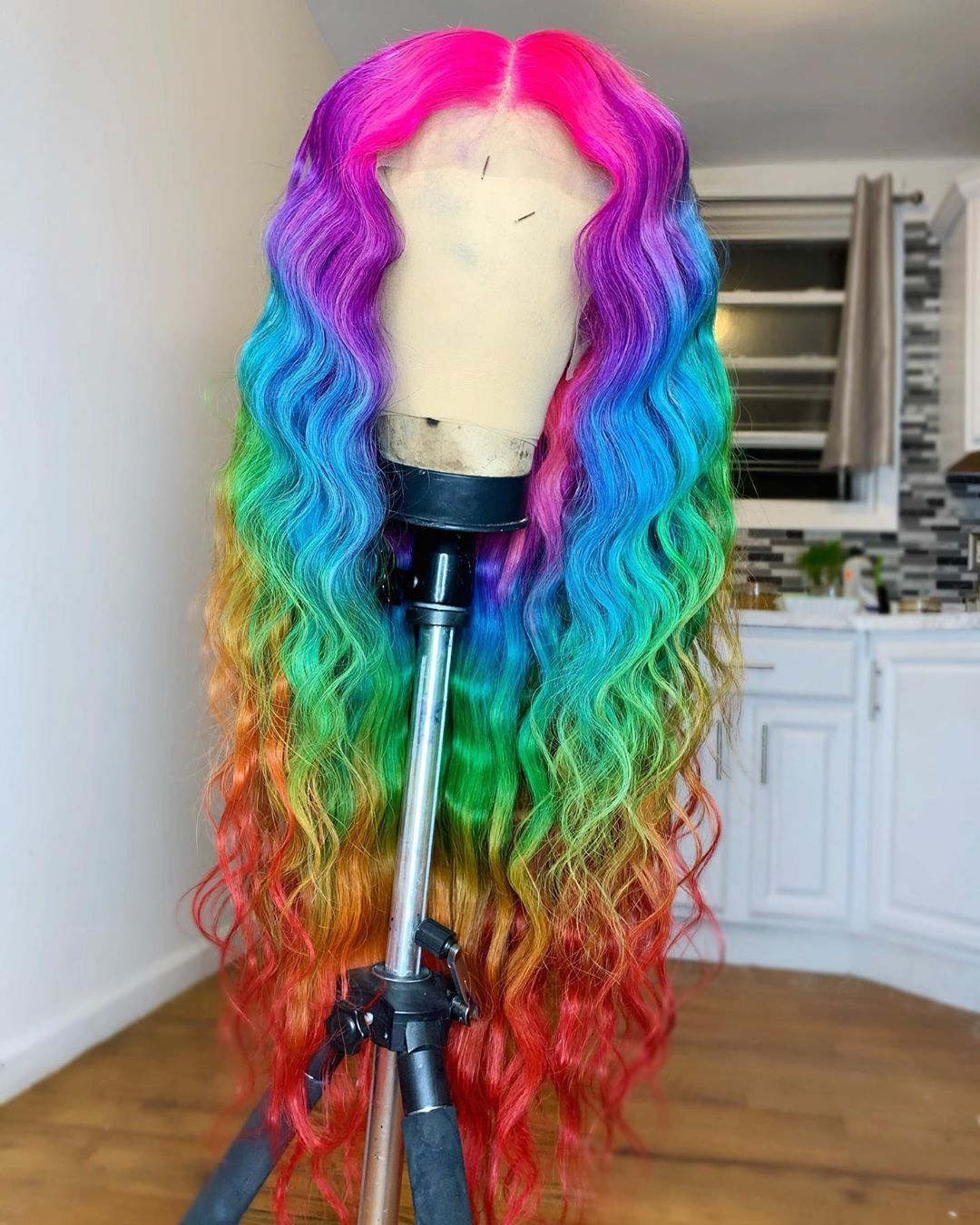 Loose Wave Ombre Colorful Wigs With Baby Hair Pre Plucked  #lacewigs