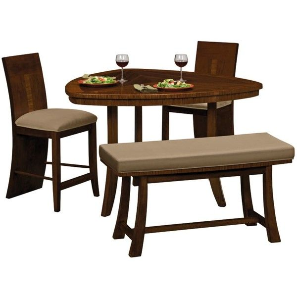 Downtown Counter Height Dinette Table X Stool Bench