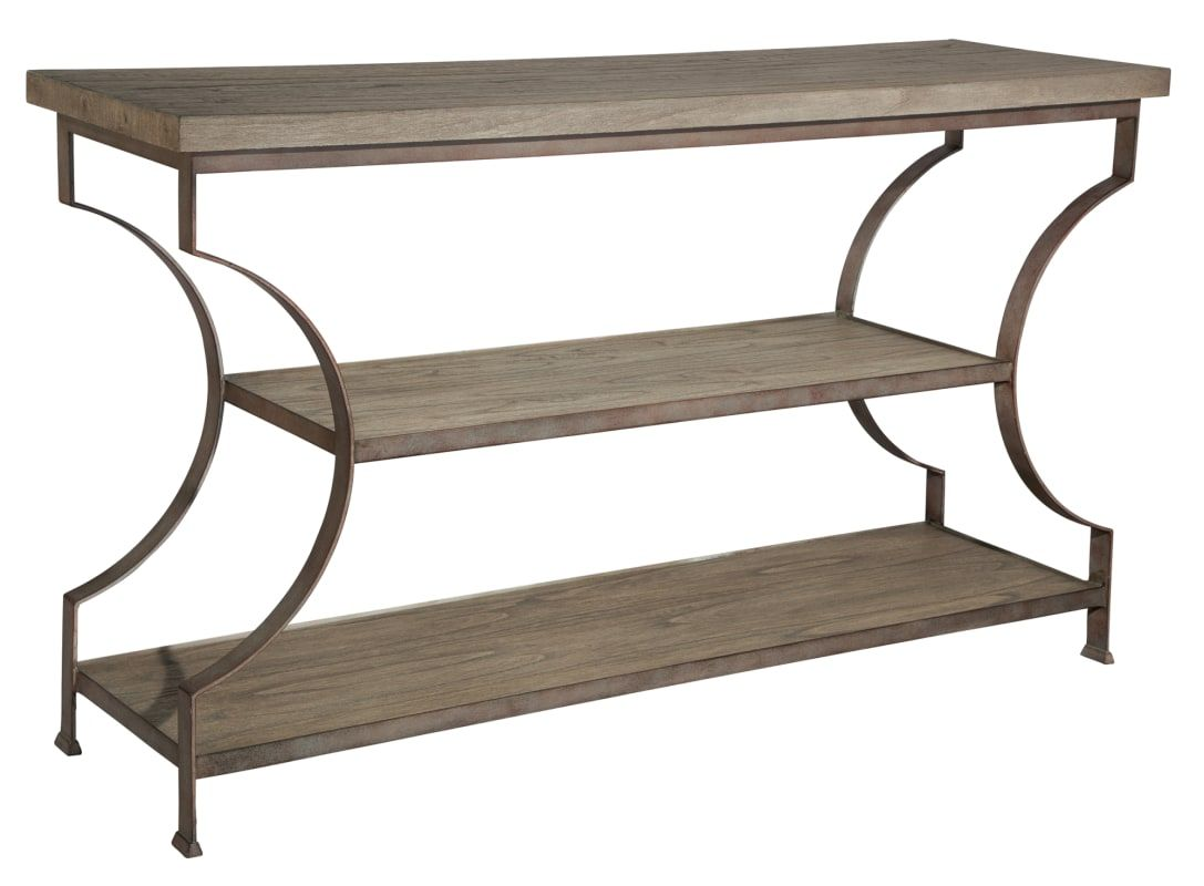 Wondrous Hekman 27520 56 Inch Wide Iron Framed Wood Sofa Table With Creativecarmelina Interior Chair Design Creativecarmelinacom