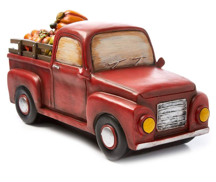 Pumpkin Truck Tabletop Decor Angled View Silo Image my bedroom - how to decorate your car for halloween