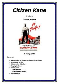 this study guide examines the film citizen kane by orson welles rh pinterest com citizen kane study guide questions Citizen Kane Movie Poster