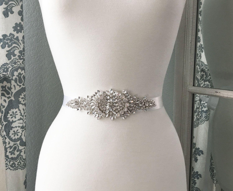 Rhinestone wedding dresses  Bridal Sash Wedding Dress Belt Rhinestone Bridal Sash Crystal