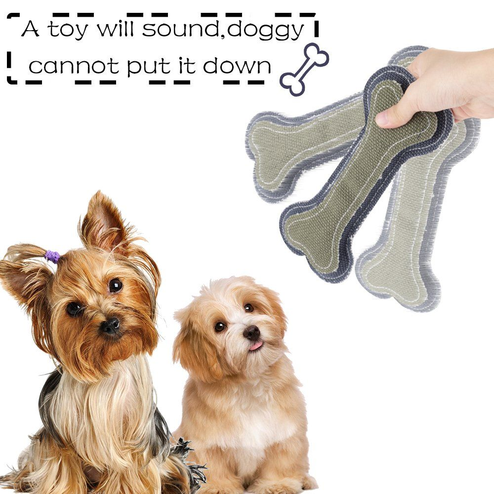 Onson Dog Chew Toys Interactive And Chewing Cotton Bone Toys