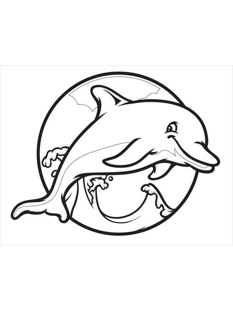 Dolphin Coloring Pages For Toddlers Below Is A Collection Of Dolphin Coloring Page Which You Can D Dolphin Coloring Pages Coloring Pages Animal Coloring Pages