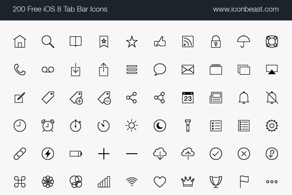 500 Free Ios Tab Bar Icons Free Design Resources Icon Free Design Resources Design Freebie