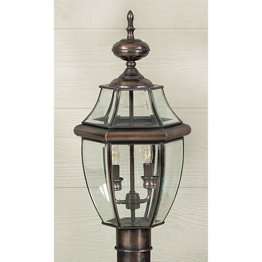 Quoizel Newbury Outdoor Post Aged Copr 2l Ny9042ac In 2020 Outdoor Post Lights Post Mount Lighting Copper Post Light