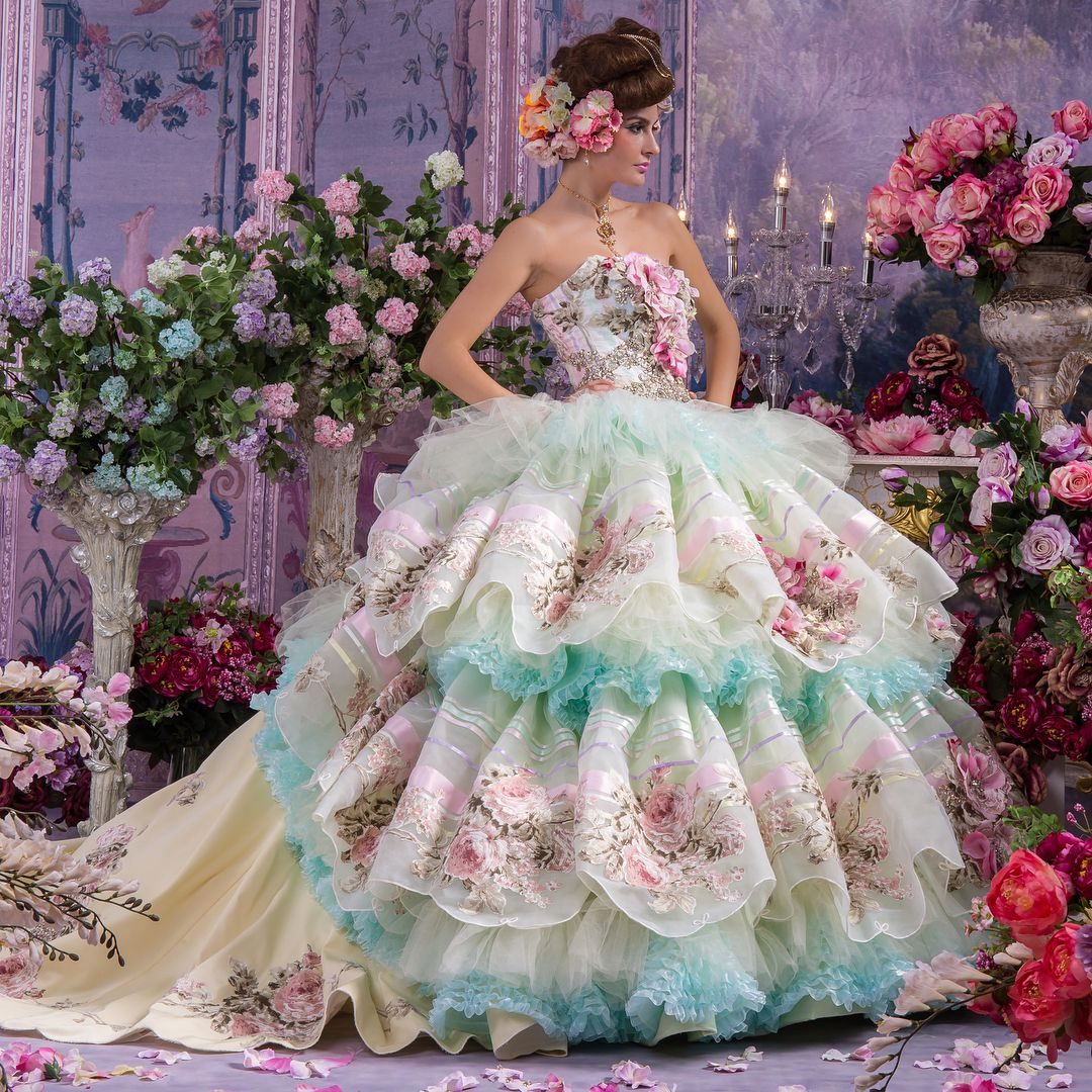 When you\'re feeling Rococo put on this tiered dress shaped like a ...