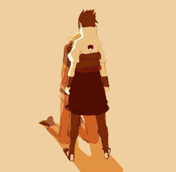 "It's like Naruto is saying ""I'm so happy I finally found you Sasuke. "" #sasuke #naruto"