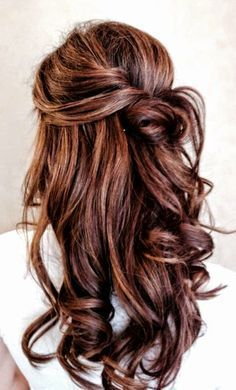 Beautiful subtle red highlights in this chocolate brown hair for the fall