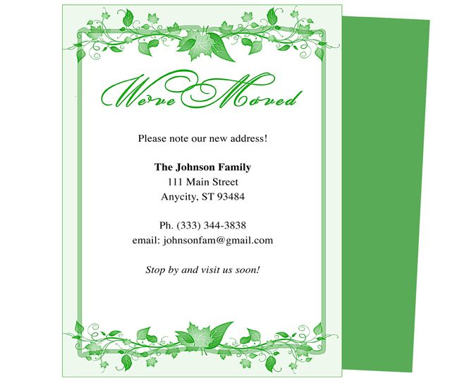 Moving announcements and weve moved postcards templates ivy just moving announcements and weve moved postcards templates ivy just moved printable card template pronofoot35fo Choice Image