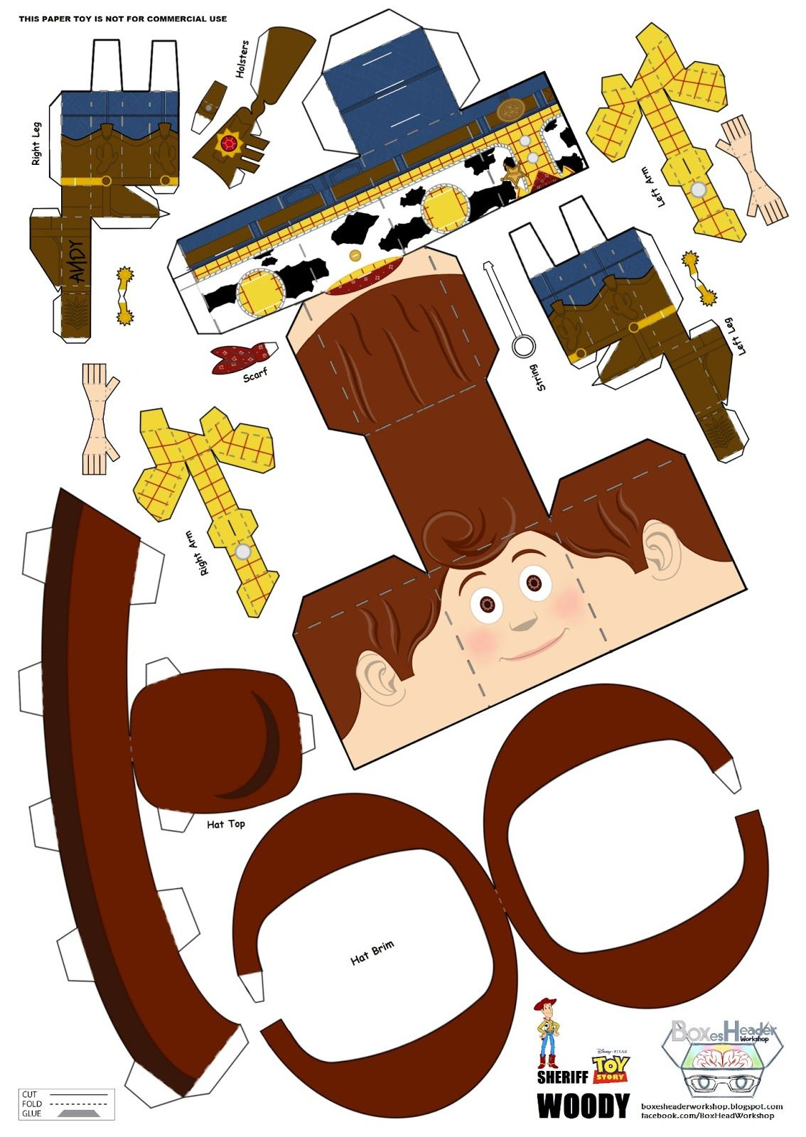 Blog Paper Toy papercraft Woody template preview 3d Paper Crafts e3ab6566ce6