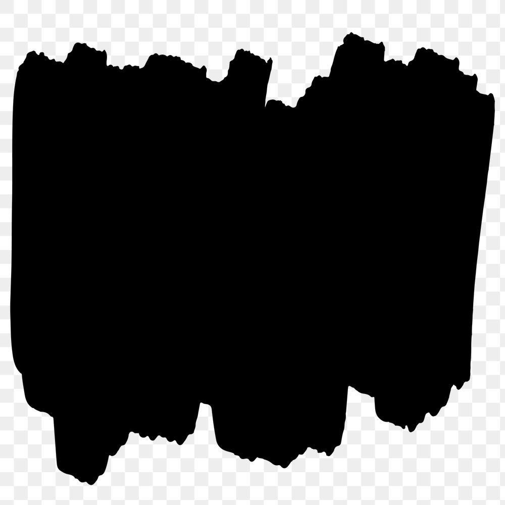 Scribbled Brush Png Sticker Black Banner Illustration Free Image By Rawpixel Com Niwat In 2020 Black Banner Illustration Free Illustrations